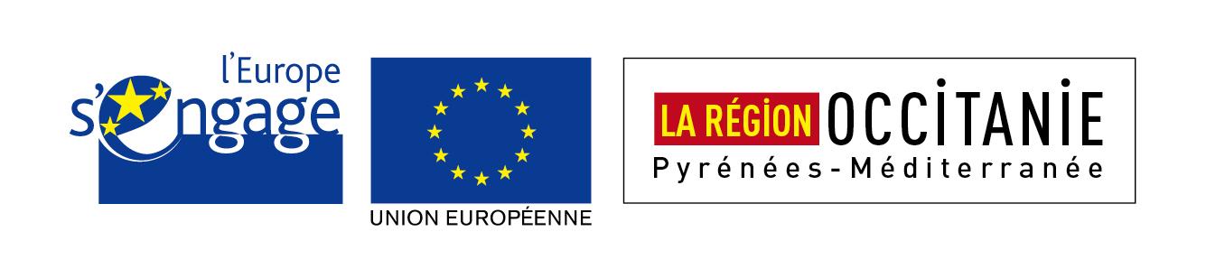 La Region Occitanie Pyrénées Méditerannée L'Europe s'engage