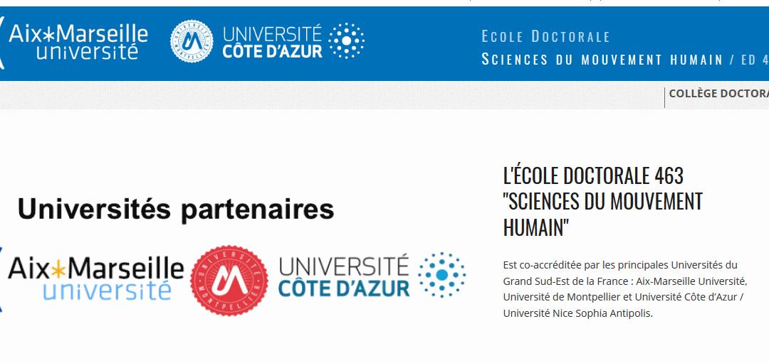Journée de l'École Doctorale des Sciences du Mouvement Humain 2018